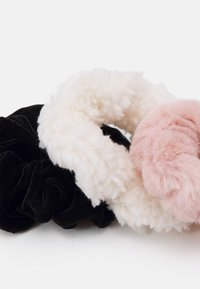 Abercrombie & Fitch - SCRUNCHIES 3 PACK - Hair styling accessory - black/pink/white - 1