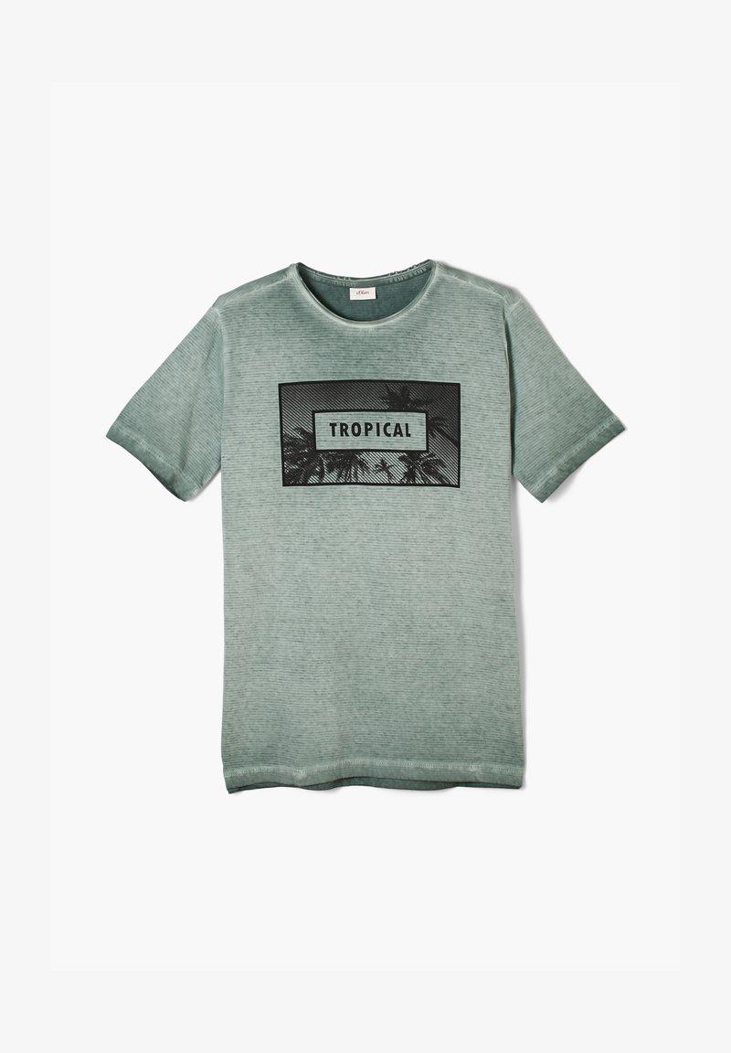 s.Oliver - Print T-shirt - green