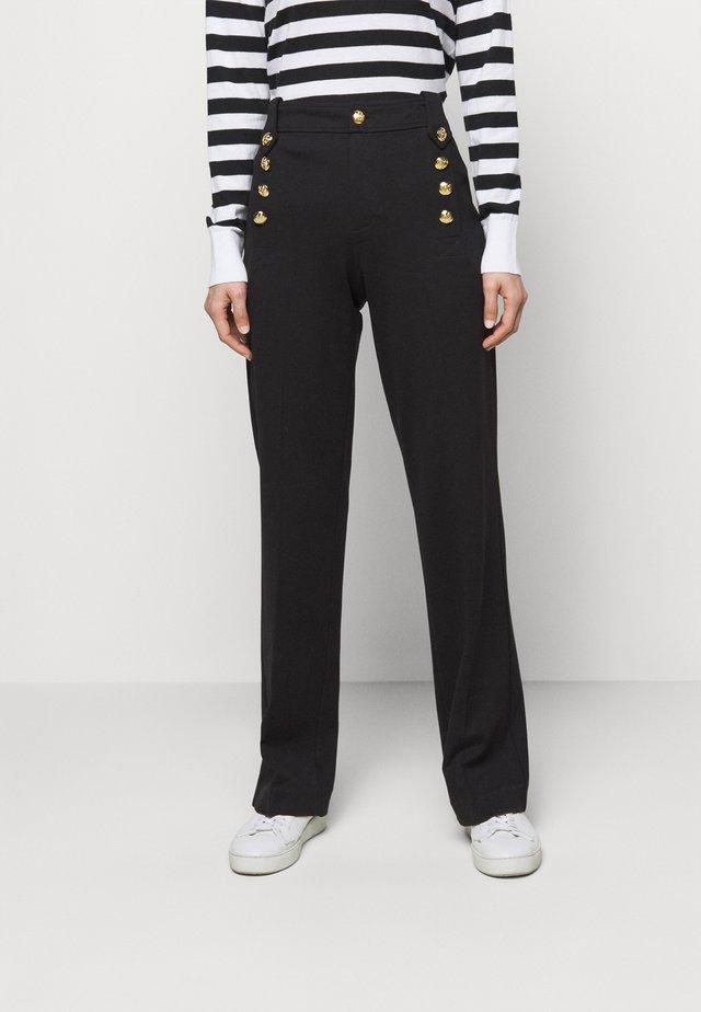 MODERN PONTE - Pantalon classique - polo black