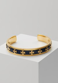 Tory Burch - RAISED LOGO CUFF - Bracelet - navy/gold-coloured - 0