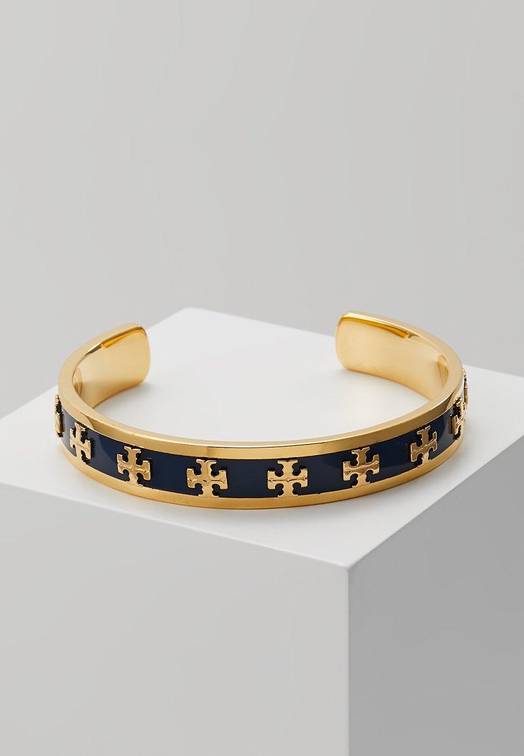 Tory Burch - RAISED LOGO CUFF - Bracelet - navy/gold-coloured