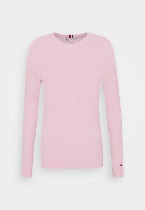 ESSENTIAL CABLE - Strikkegenser - frosted pink