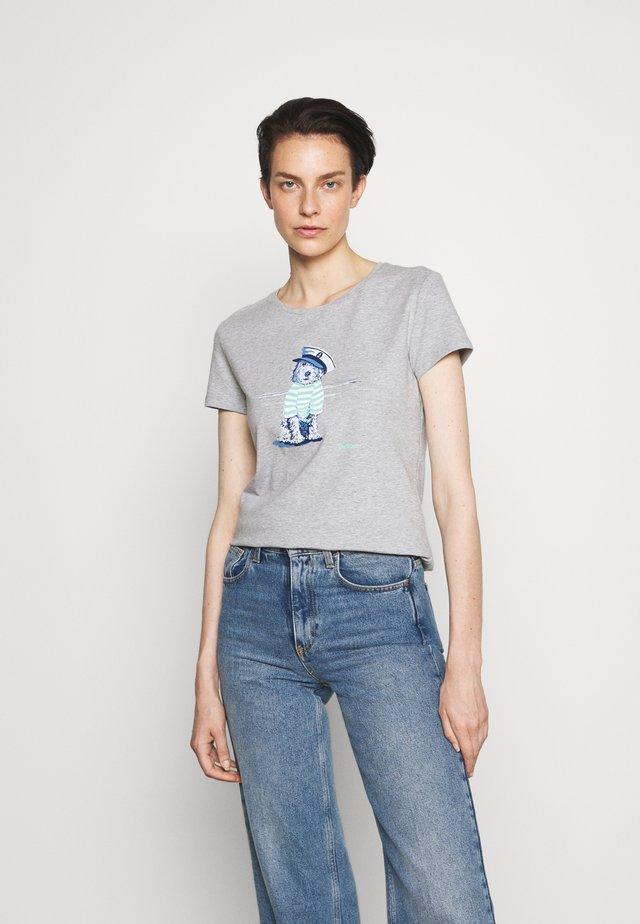 SOUTHPORT TEE - Print T-shirt - grey marl