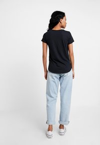 Abercrombie & Fitch - SLEEVE ICON TEE - T-Shirt basic - black - 2