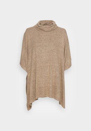 BIARA  - Stickad tröja -  camel melange