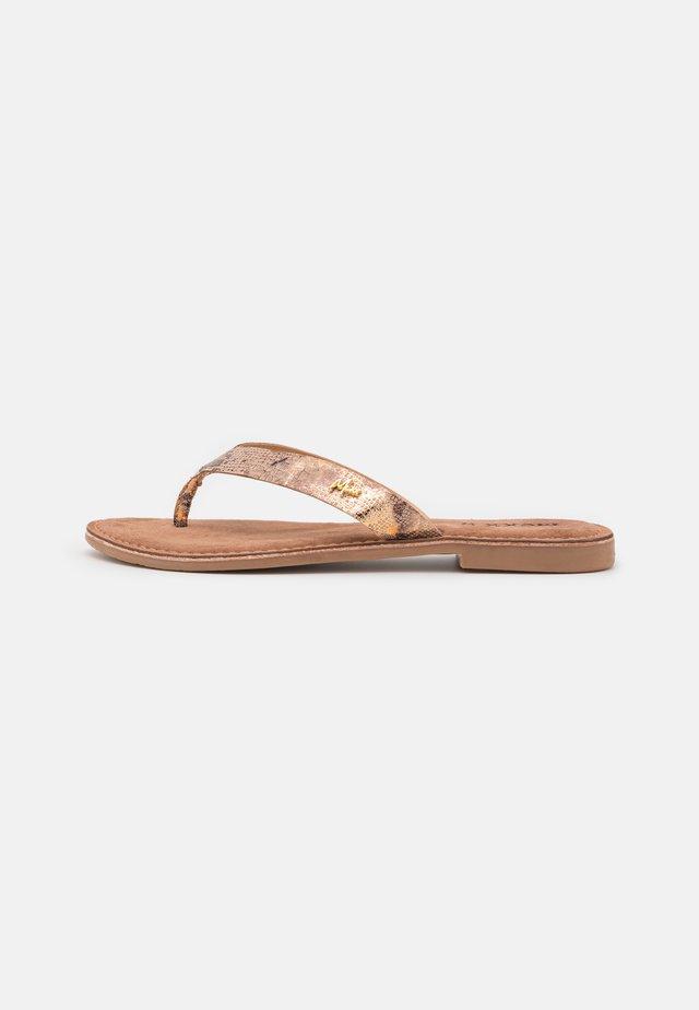 GRIZZLY - Sandály s odděleným palcem - offwhite