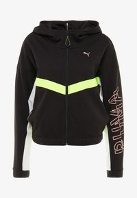 Puma - HIT FEEL IT JACKET - Zip-up hoodie - black/yellow alert - 3