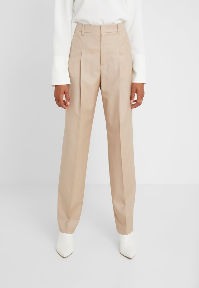 ICONIC - Trousers - camel
