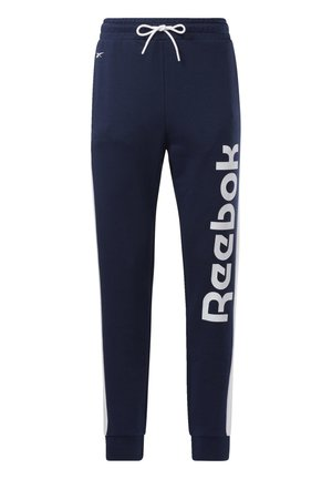 TRAINING ESSENTIALS LINEAR LOGO JOGGERS - Pantalones deportivos - blue