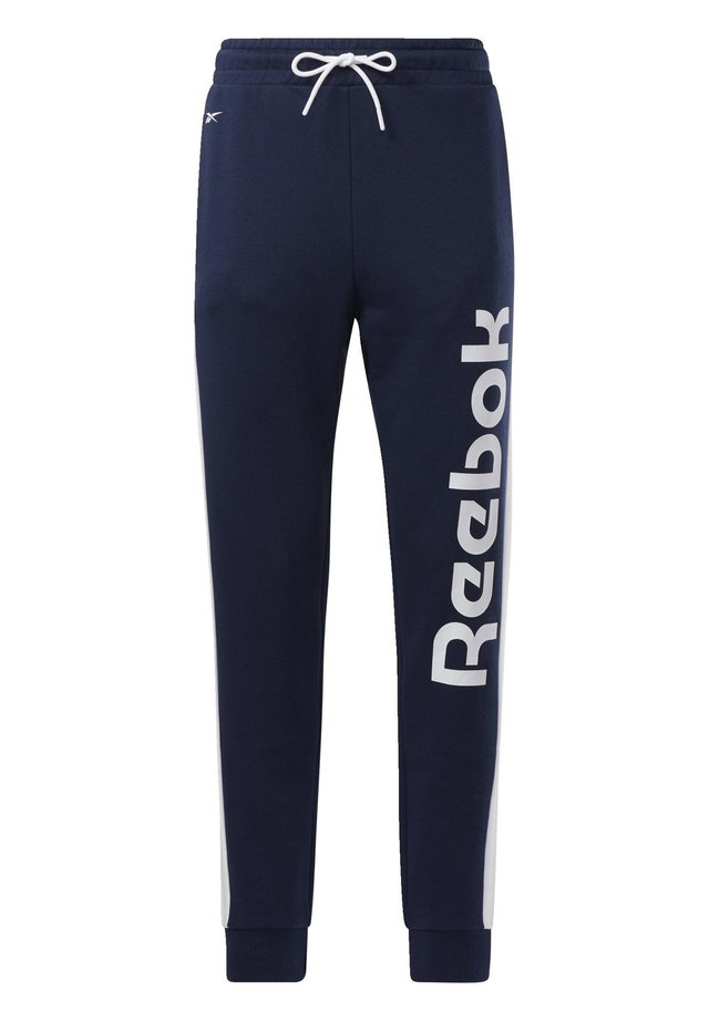 TRAINING ESSENTIALS LINEAR LOGO JOGGERS - Spodnie treningowe - blue