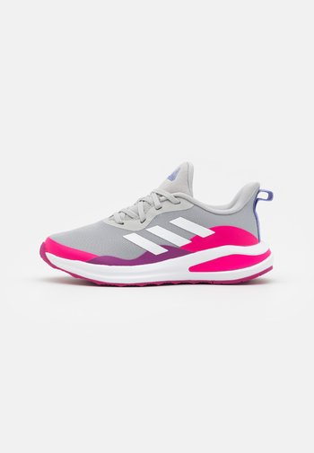 FORTARUN RUNNING SHOES UNISEX - Neutral running shoes - grey two/footwear white/shock pink
