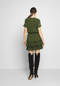 MICHAEL Michael Kors - MINI TIER DRESS - Day dress - black/evergreen - 2