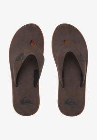 Quiksilver - HALEIWA - T-bar sandals - brown/brown/brown - 0