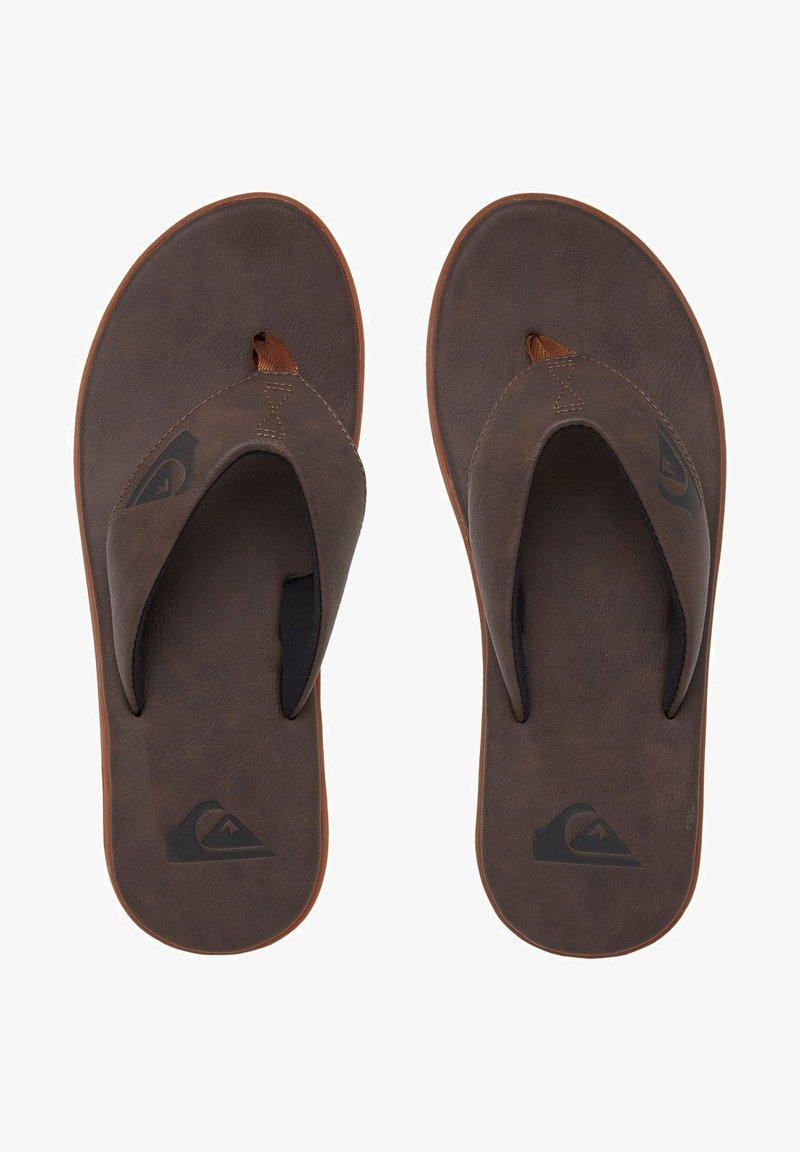 Quiksilver - HALEIWA - T-bar sandals - brown/brown/brown