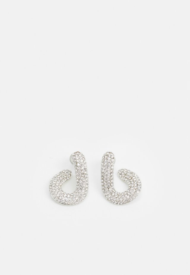 LATER SMALL LOOP EAR - Earrings - silver-coloured/clear