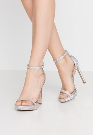 MILANO - High heeled sandals - silver
