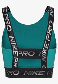 Nike Performance - CROP TANK - Funktionsshirt - neptune green/black/metallic silver - 1