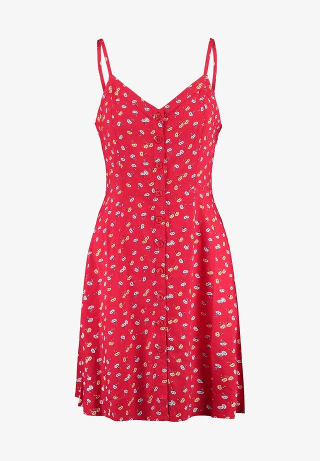 Korte jurk - tomato