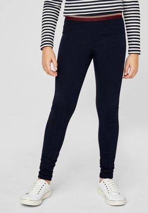 MIT GLITZER-DETAIL - Leggings - Trousers - dark blue