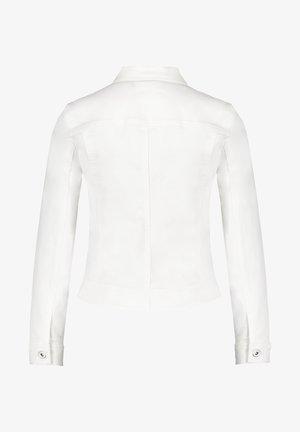 MIT PAILLETTENAPPLIK - Denim jacket - off-white