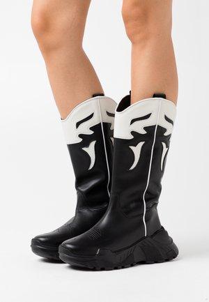 LUCKY - Cowboy/Biker boots - black
