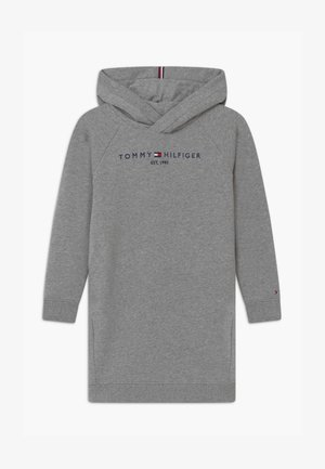 ESSENTIAL HOODED - Korte jurk - grey