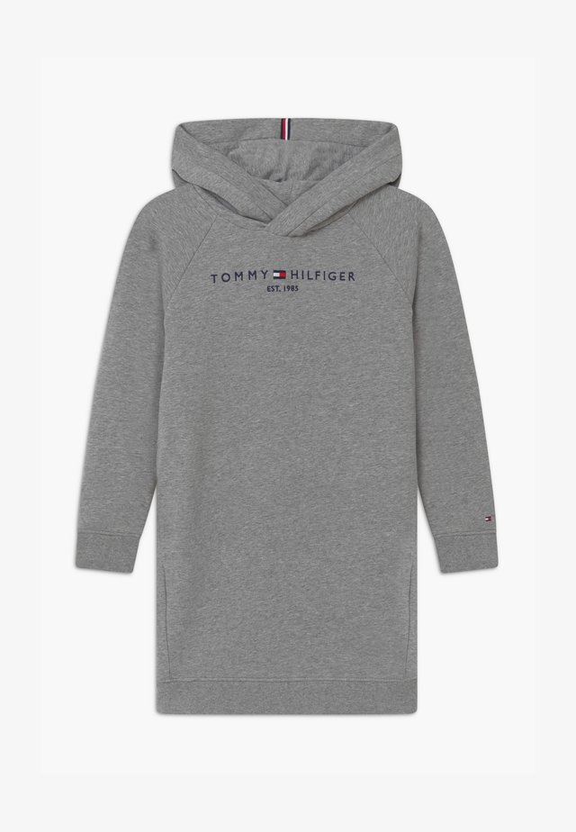 ESSENTIAL HOODED - Day dress - grey