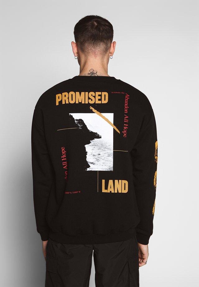 PROMISED LAND - Sweatshirt - black