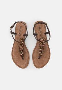 Lazamani - T-bar sandals - brown - 4