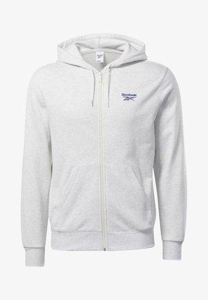 CLASSICS VECTOR FULL-ZIP HOODIE - Zip-up hoodie - white