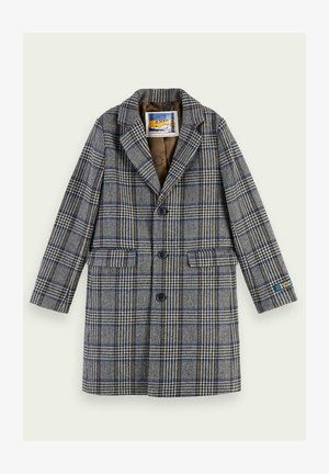 WOOL-BLEND LONG SLEEVE CHECKED - Classic coat - combo c