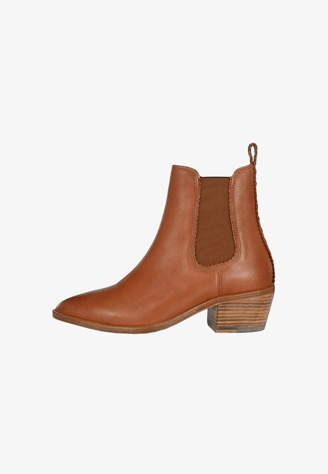 NATALIE - Classic ankle boots - cognac