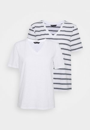 SLUB 2 PACK - T-Shirt print - white
