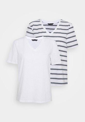 SLUB 2 PACK - T-shirts med print - white