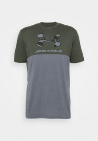 Under Armour - CAMO BIG LOGO  - T-shirt imprimé - baroque green - 4