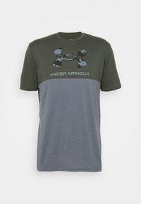 Under Armour - CAMO BIG LOGO  - Print T-shirt - baroque green - 4