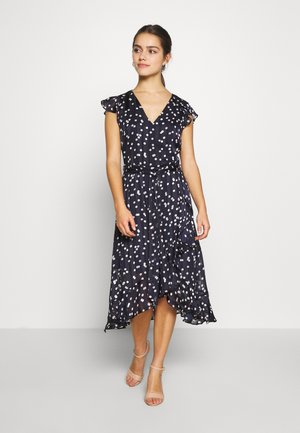 SPOT RUFFLE DRESS - Day dress - ink