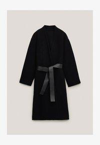 Massimo Dutti - Klasyczny płaszcz - black - 3