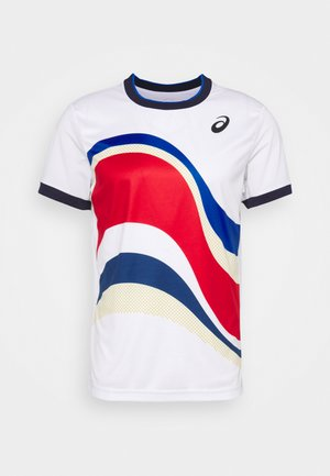 MATCH TEE - T-shirt imprimé - brilliant white