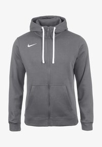Nike Performance - CLUB19 HERREN - Zip-up hoodie - charcoal heather / anthracite white - 0