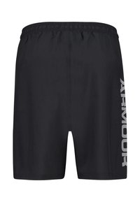 Under Armour - WORDMARK - Pantalón corto de deporte - black/grey