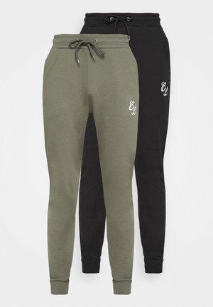 SIGNATURE 2 PACK - Spodnie treningowe - black/khaki