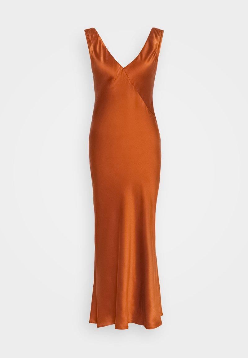 ASCENO - THE SLIP DRESS - Nightie - rust