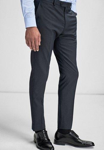 STRETCH TONIC SUIT: TROUSERS-SLIM FIT - Oblekové kalhoty - blue