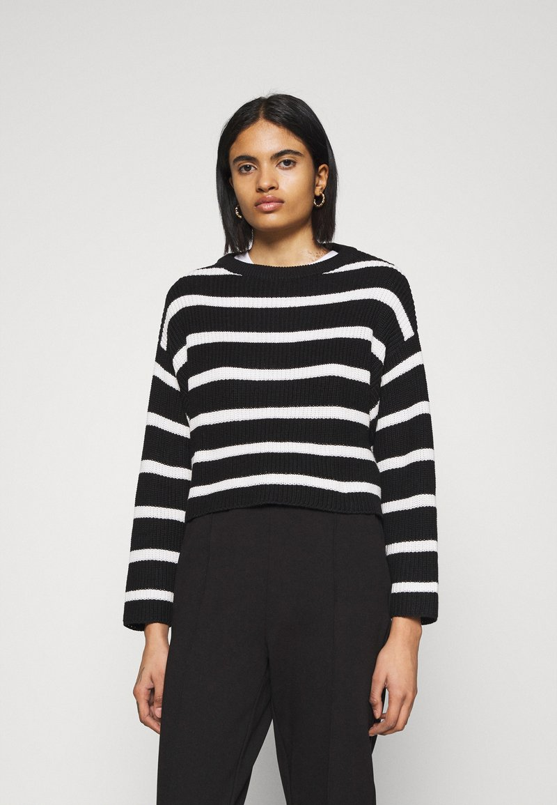 Even&Odd - Jumper - black/white
