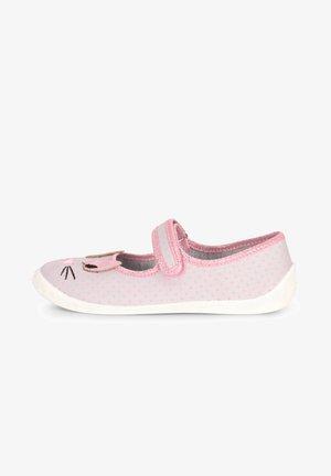 Ankle strap ballet pumps - grey/cat