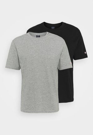 CREW NECK 2 PACK - Jednoduché triko - grey/black