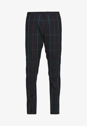 GENTS TROUSER CHECKED - Oblekové kalhoty - dark blue