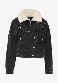 Topshop - 80S BORG NEAT JACKET - Denim jacket - wbk - 3