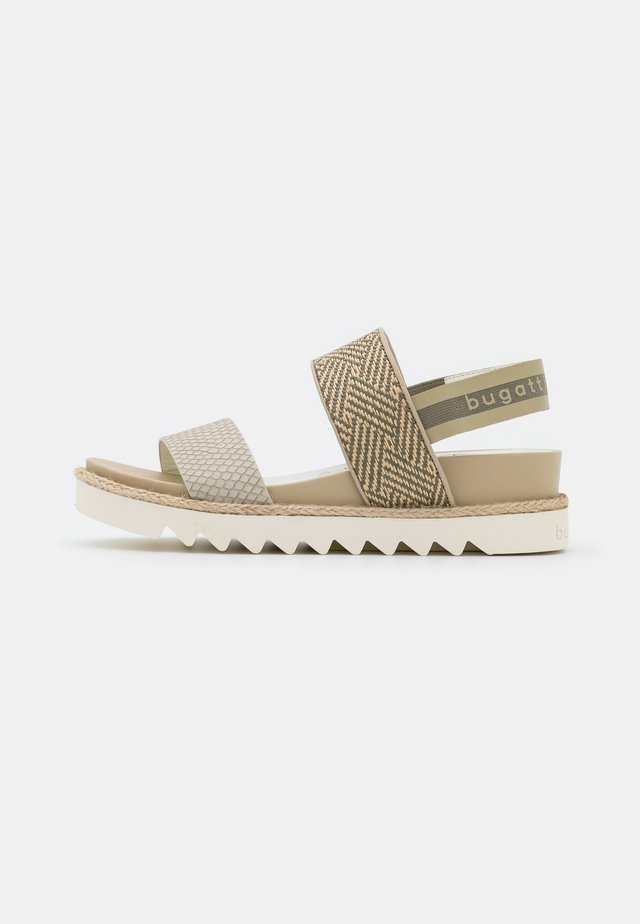 HOPE - Plateausandalette - light green/beige